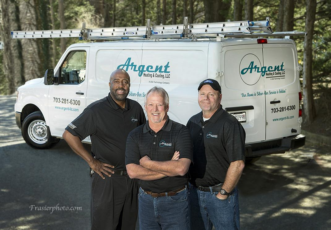 Argent Heating and Cooling Team and Truck